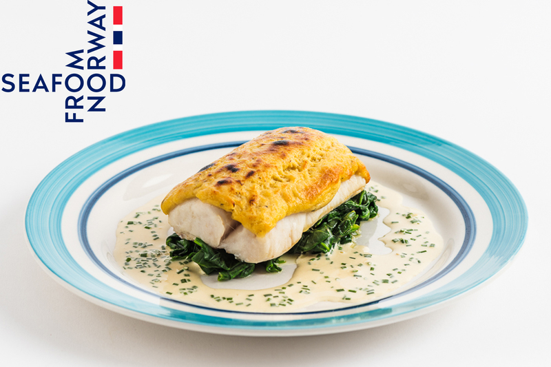Rarebit Crusted Norwegian Cod With Wilted Spinach And Dijon Mustard Cream - 1