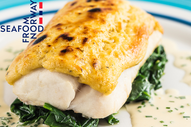 Rarebit Crusted Norwegian Cod With Wilted Spinach And Dijon Mustard Cream - 2