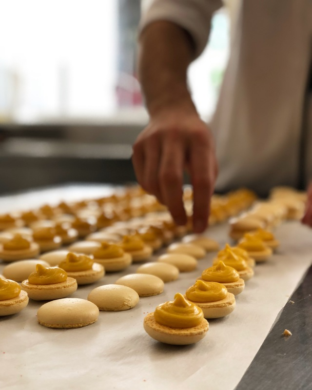 Making macarons for a special guest