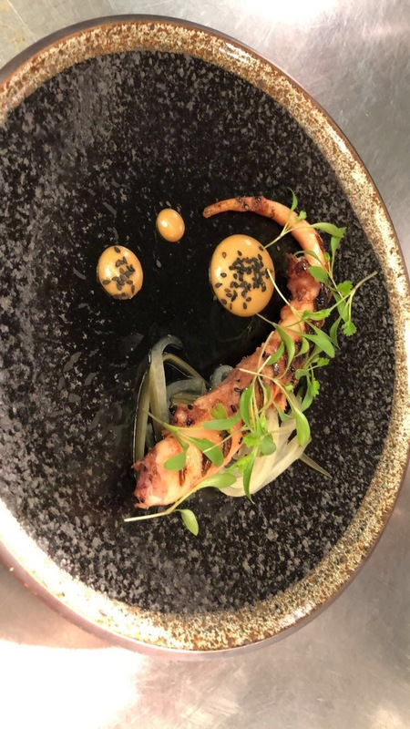 My New dishes at 3aa rosette la belle epoque Sofitel Heathrow