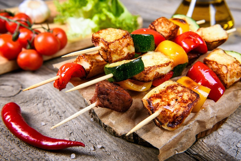 GRILLED VEGETABLE & HALLOUMI SKEWERS | brought to you by Prep Premium