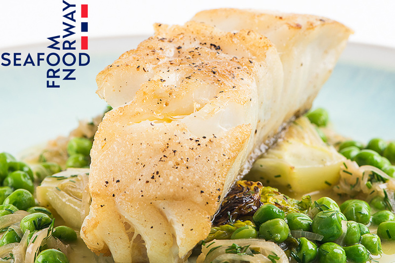 Roast Norwegian Cod with Braised Lettuce, Peas and Dill - 3