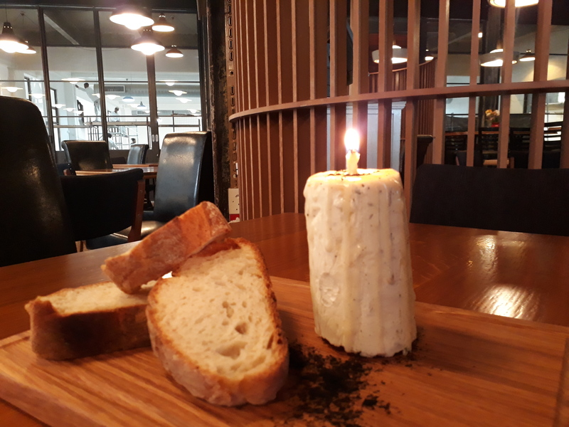 Lemon scented lamb candle, bread, fennel ash