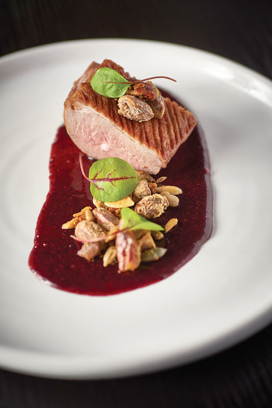 Home smoked duck  breast with damson by Craig Sherrington