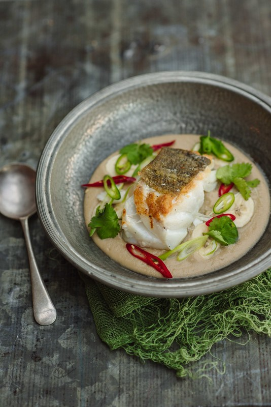 Auntie Charlotte's Thai Cod & Banana Soup by Tom Kitchin