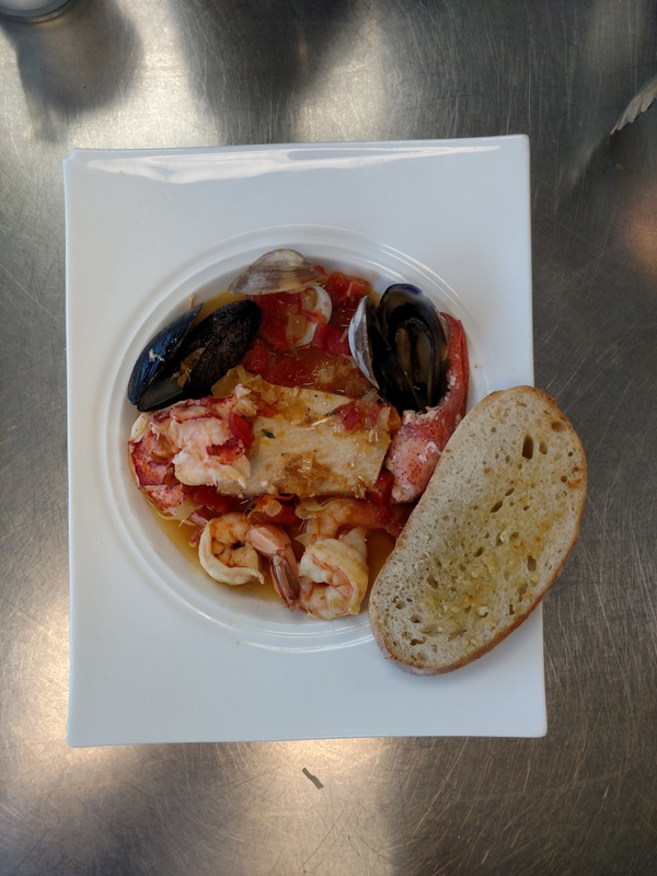 Bouillabaisse and French bread