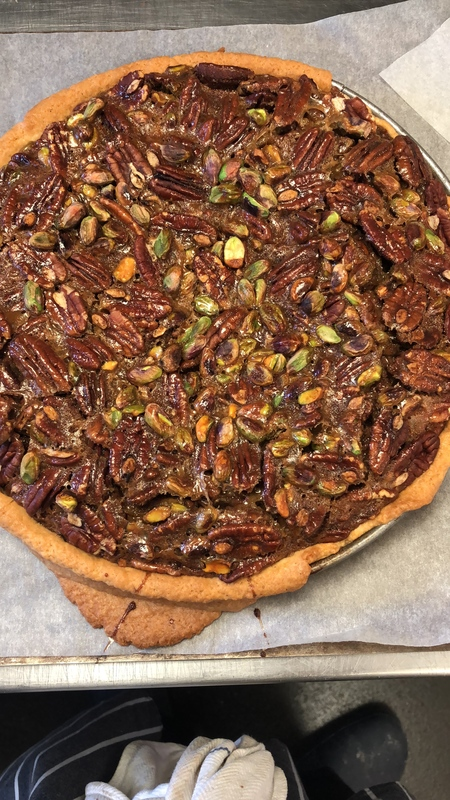 Pecan and pistachio pie