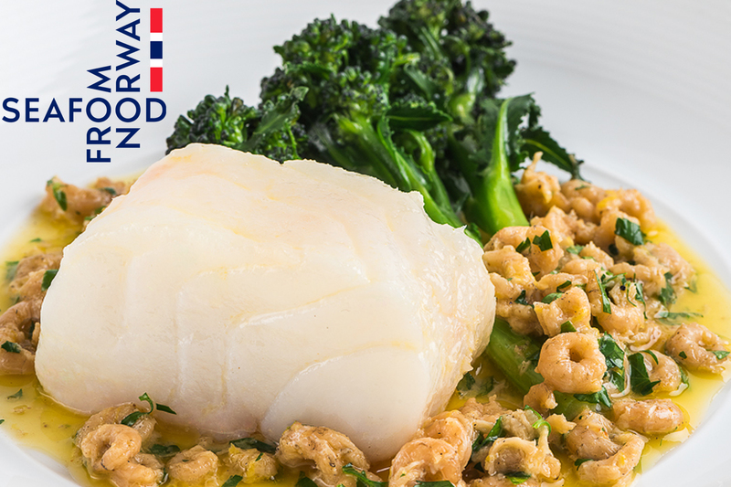 Confit Norwegian Cod Loin with Brown Shrimp and Lemon  Butter - 2