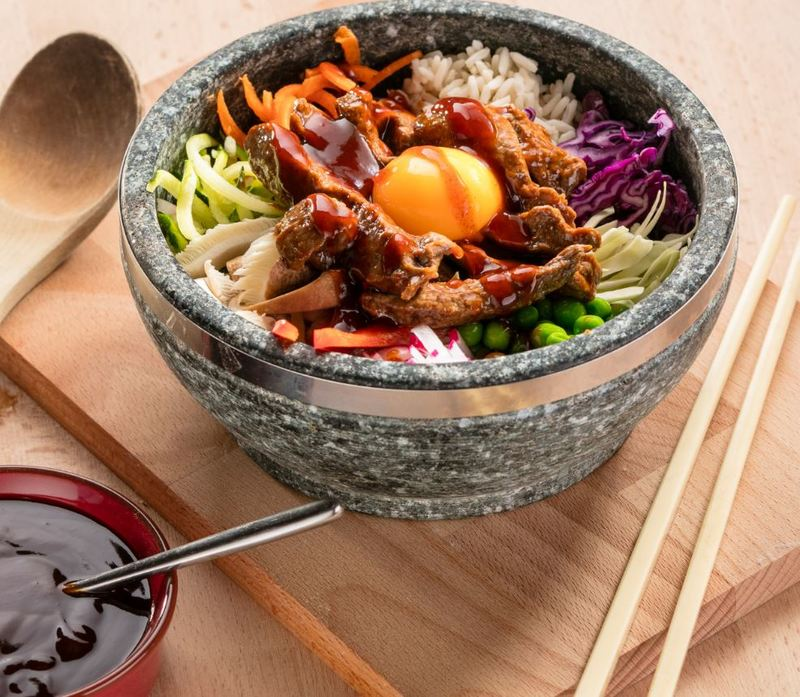 BEEF DOLSOT BIBIMBAP | brought to you by Lion Sauces