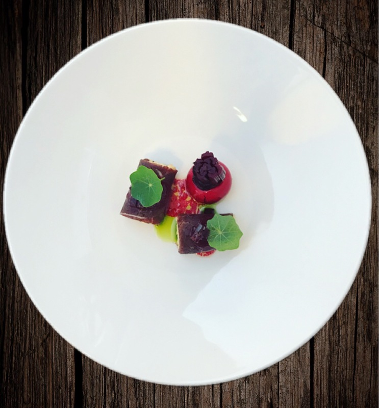 Cured Venison, Duck Liver, Beetroot