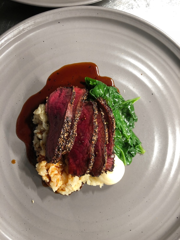 Working on a venison dish & crispy beef cheek dish game season