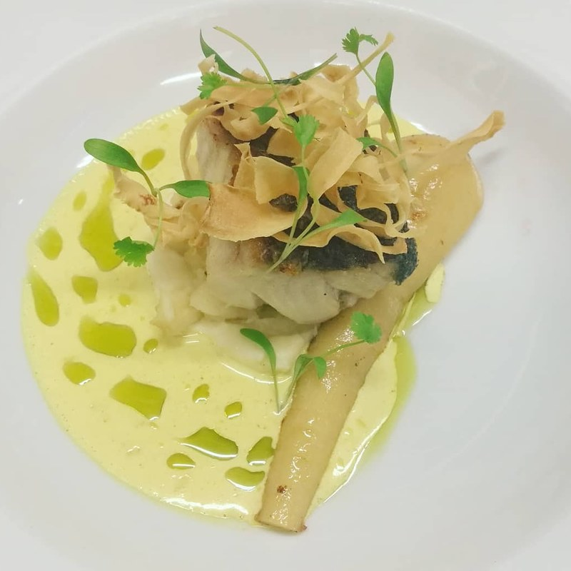 Peterhead Smoked Coley, Parsnip, Coriander, Curry Sauce