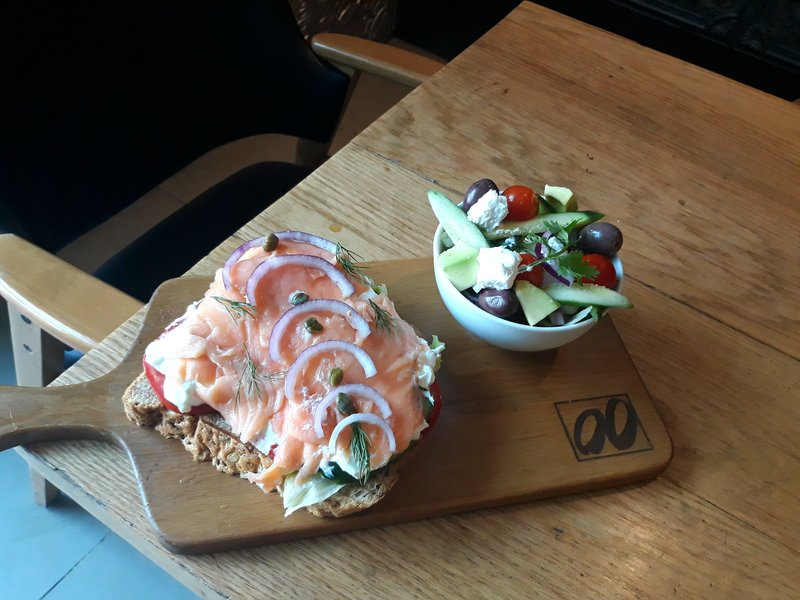 Montcaro  #smoke #salmon #toast #salad