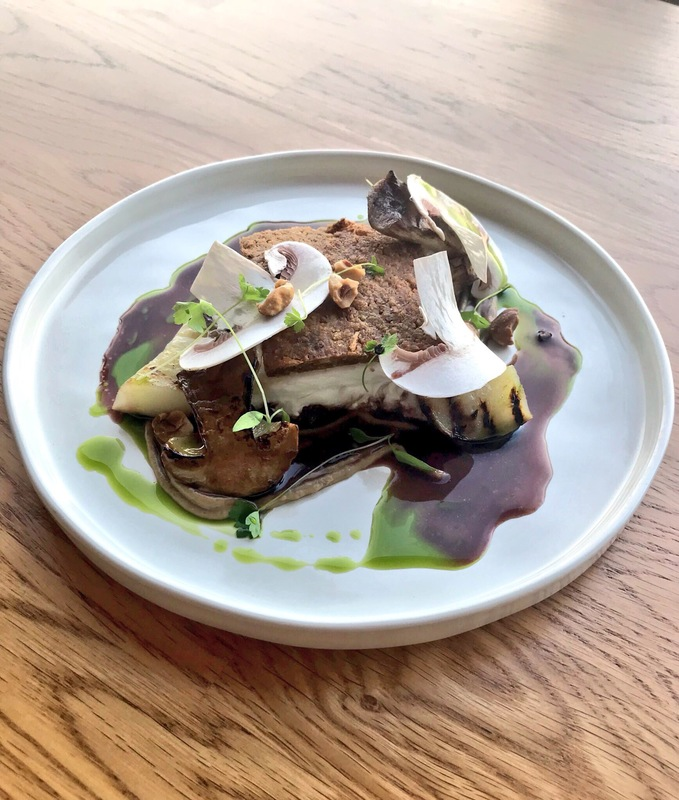 Halibut, artichoke, cep, red wine and hazelnut