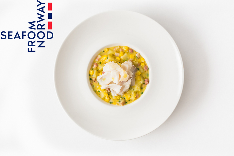 Smoked Norwegian haddock and sweetcorn chowder
