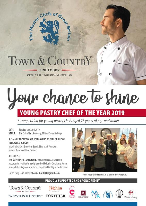 """ Young Pastry Chef 2019 ""  The Master Chefs of Great Britain  - The David Lyell Scholarship is open!"