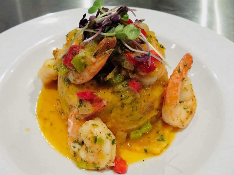 Mofongo, Shrimp with garlic sauce