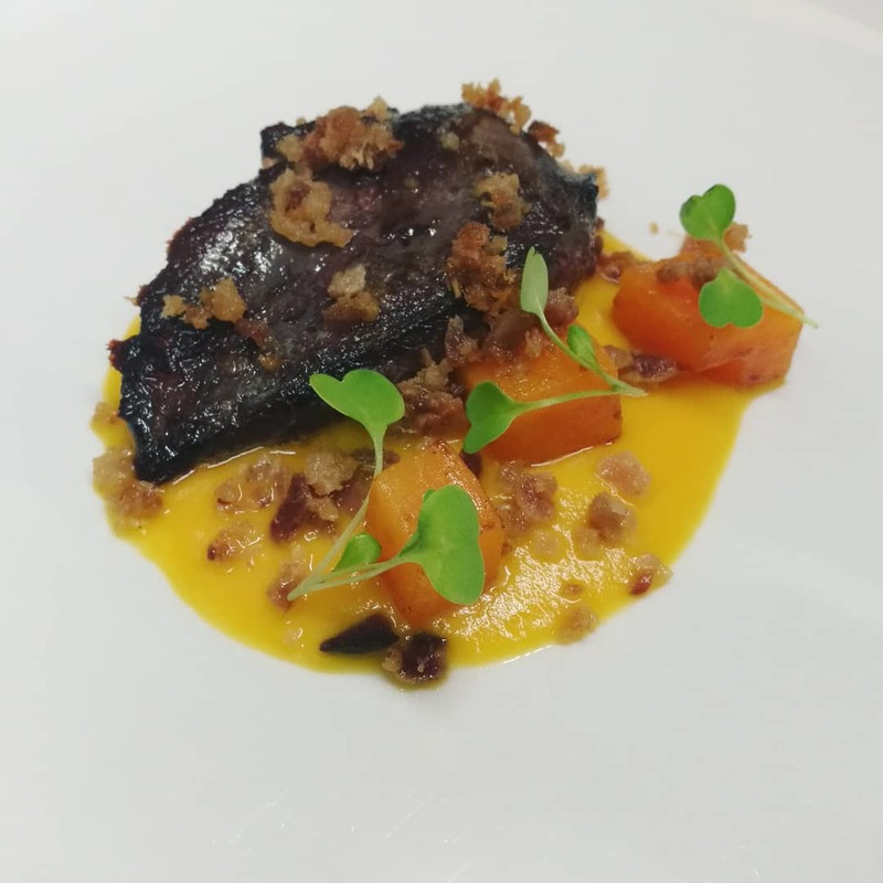 Angus Wood Pigeon, Butternut Squash, Treacle Cured Bacon