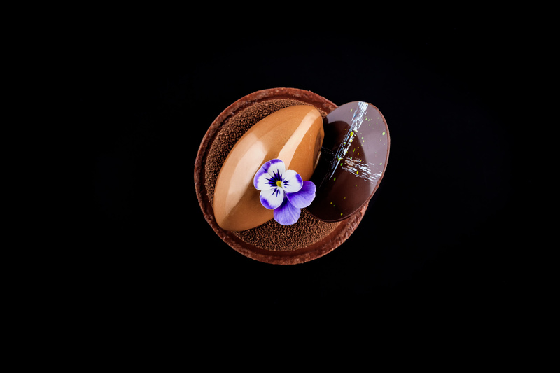 My Chuao 75% chocolate tart, beautifully captured by @faydit_photography