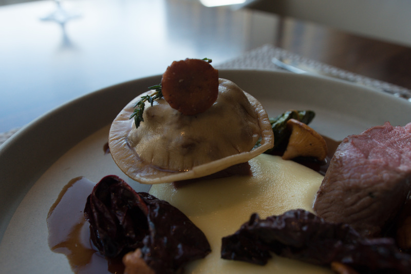 Saddle of Scottish lamb, smoked Duke of York mash, girolles and lamb ravioli recipe by Craig Hart - 1