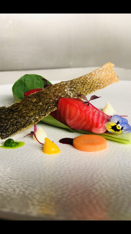 Beetroot cured Sous vide salmon