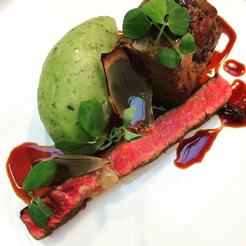 Handcross ribeye and 24 hour brisket, parsley mash, beef dripping jus