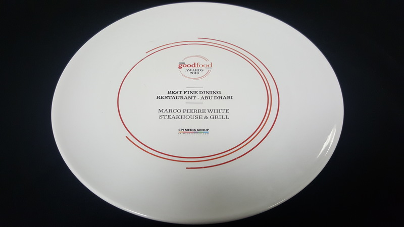 We won the best Fine dining restaurant in Abu Dhabi