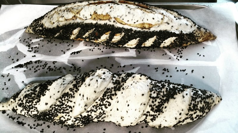 Black sesame seed and cepe powder bread