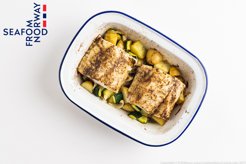 Baked Norwegian cod with Moroccan spices and preserved lemon - 1
