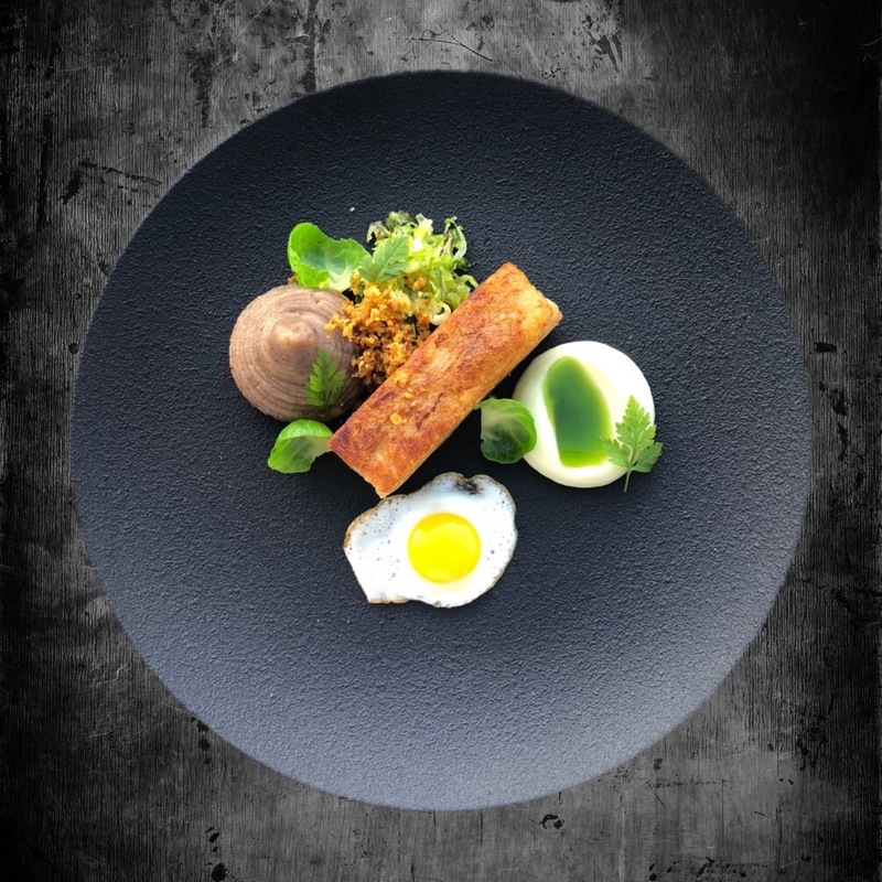 Pig, Black Pudding, Quail Egg