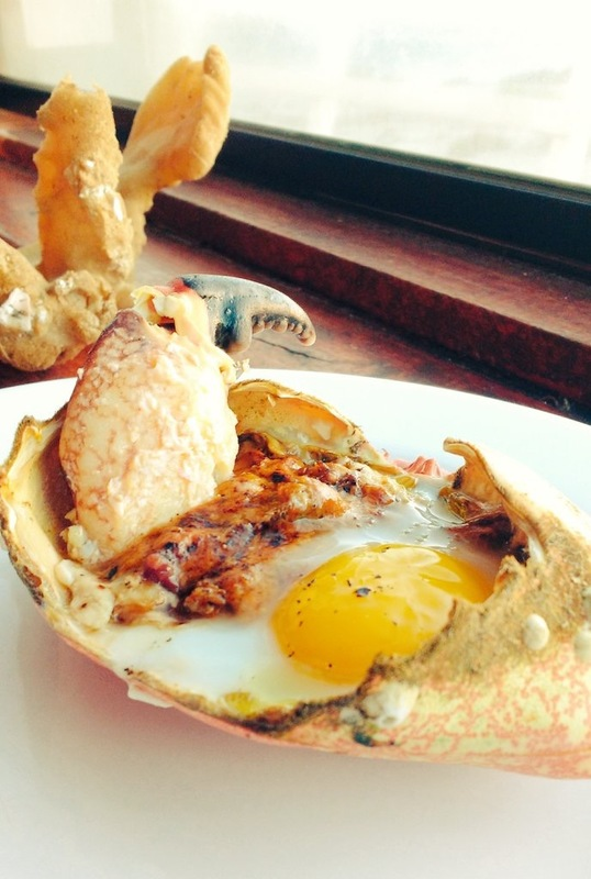 Crab and egg