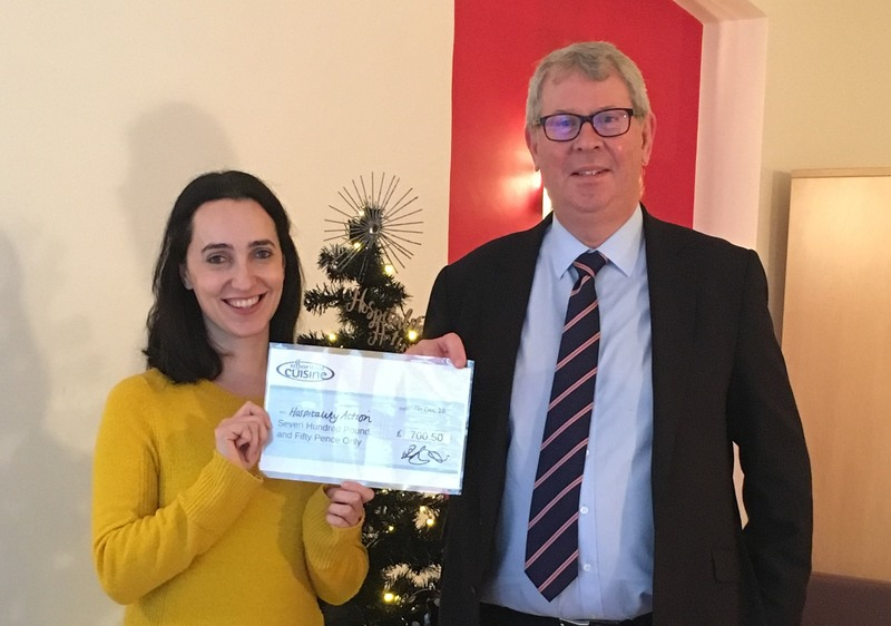 Our Head of Foodservice Sales, Mark Tinner, hands over a cheque for £700 to Hospitality Action, following the success of the company's charity advent calendar. Read more here: https://bit.ly/2L8TRPk