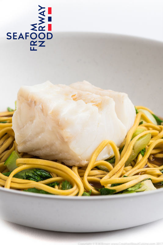 Steamed Norwegian Skrei cod with ginger, soy and lemongrass broth - 1