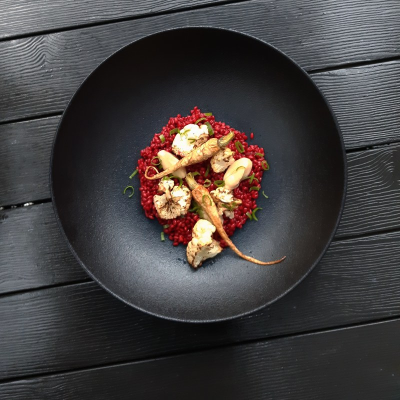Pearl barley/beetroot/Quince/roasted cauliflower/parsnip