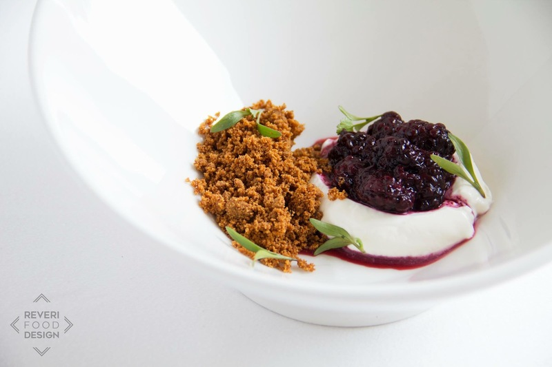 Lacto Blackberries, Creme Fraiche, and Roasted Milk
