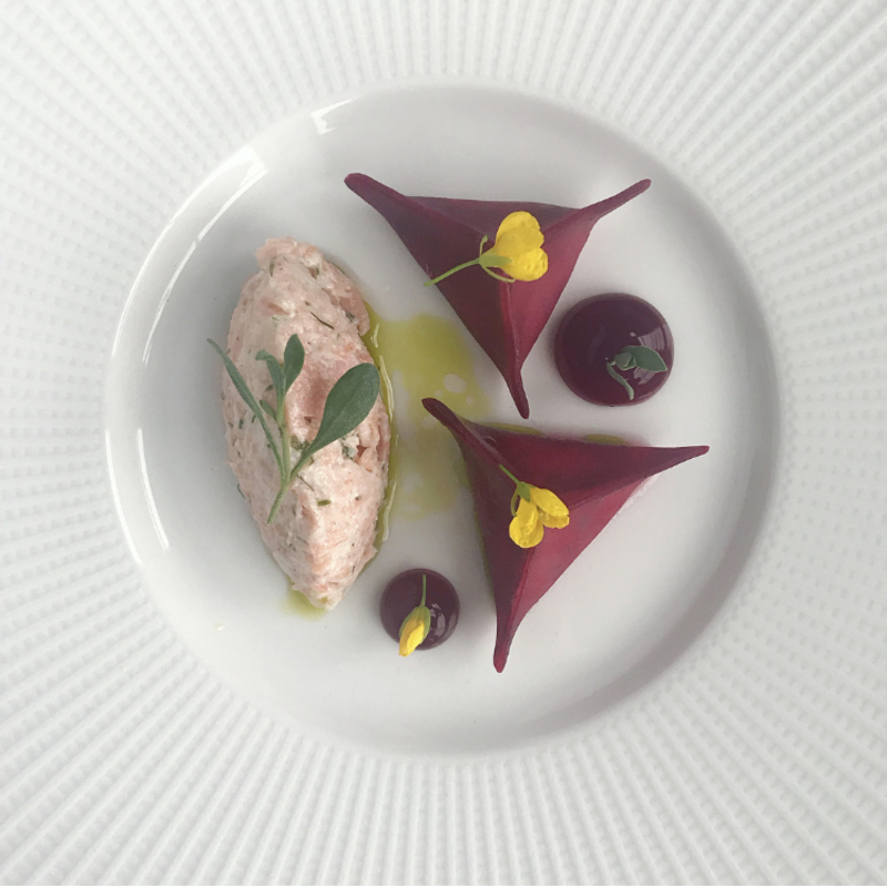 Trout, Beetroot