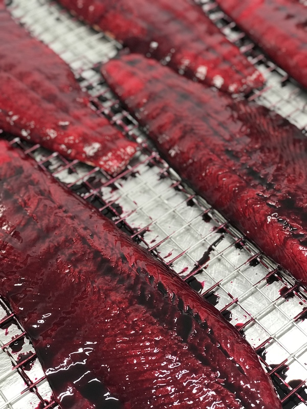 Monday curing with our modern interpretation of lightly smoked beetroot smoked salmon