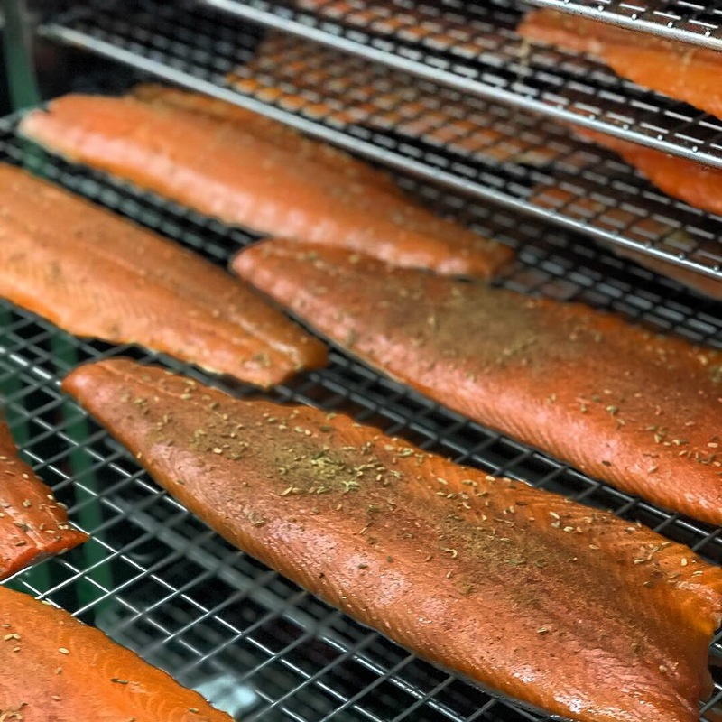 Our Whisky smoked salmon post kiln ready for slicing and packing #campbellsandco