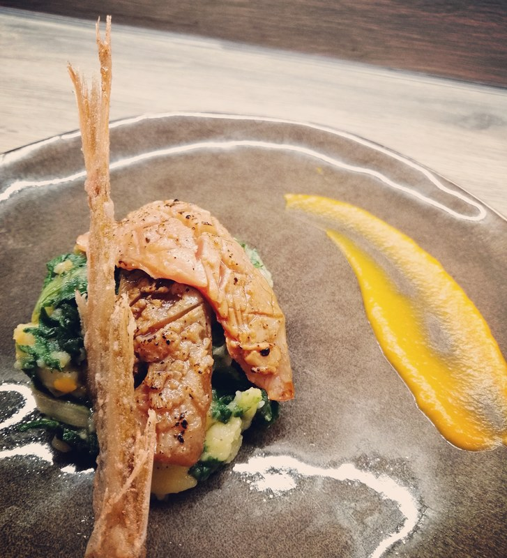 Red mullet :black_small_square:️Swiss chard :black_small_square:️Butternut squash puree