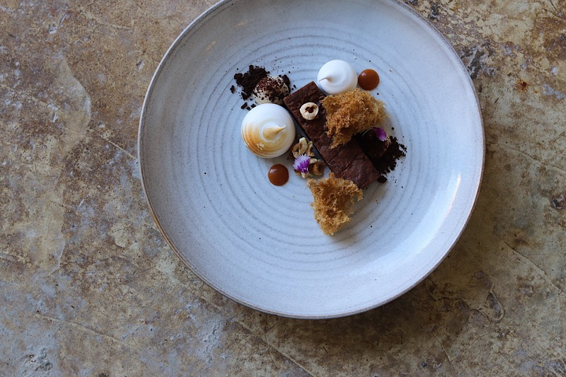 Chocolate, brownie, coffee, mascarpone, hazelnut, salted caramel...