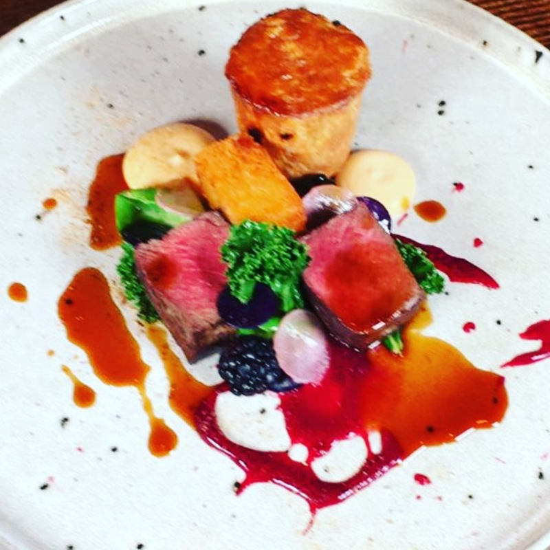 Venison, Venison Pie, Blackberries
