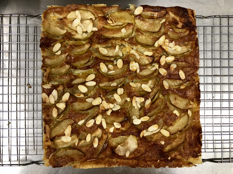 Apple & almond tart Simple pastry at the 1 rosette morhill house hotel last year.