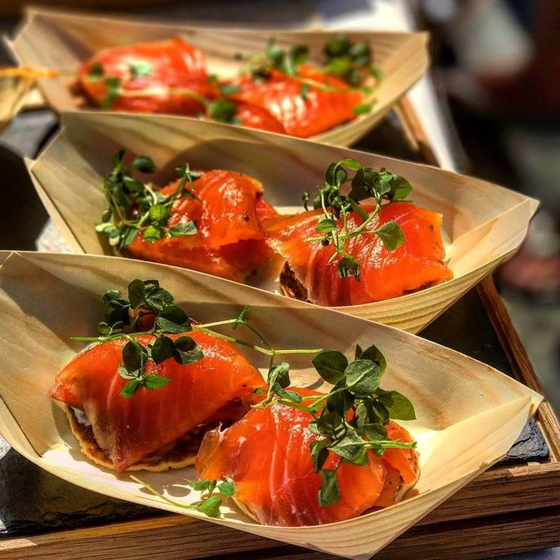An alternative way to serve salmon.
