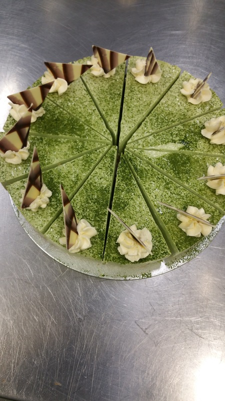 Matcha green tea cheese cake