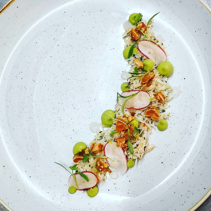 Crab, Avocado, Ponzu, Peanut, White Balsamic, Radish.