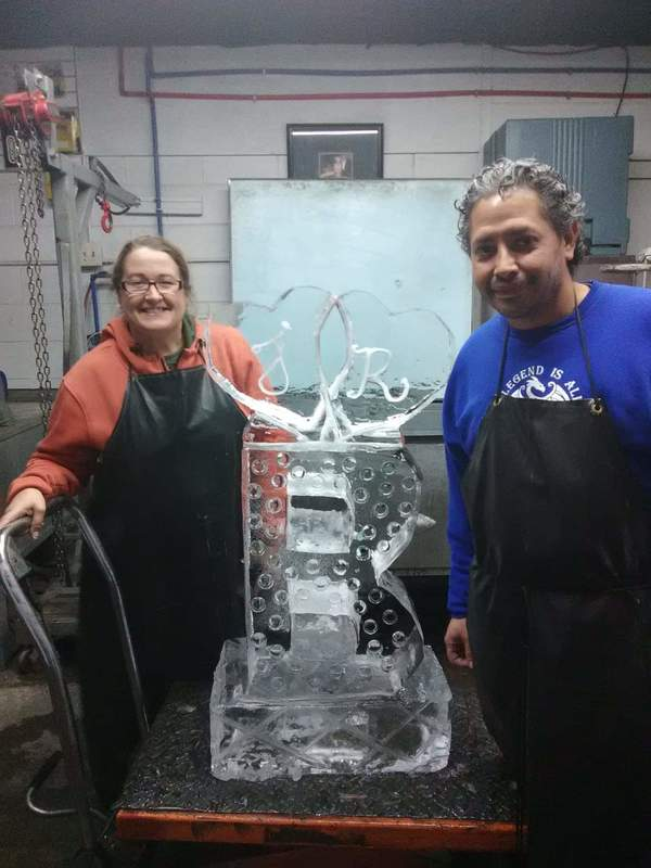 Today I did my first ice sculpture. I can not wait to do another. Thanks Chef Michelle for the knowledge.
