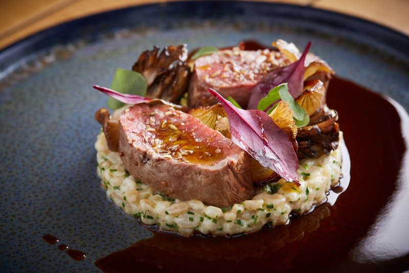 Spiced Scotch Lamb Loin recipe with pearl barley, grelot onions & girolle mushrooms by Jamie Scott - 1