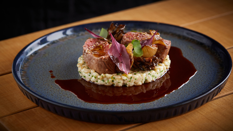 Spiced Scotch Lamb Loin recipe with pearl barley, grelot onions & girolle mushrooms by Jamie Scott - 2