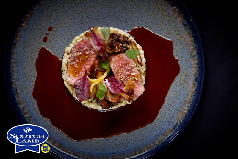 Spiced Scotch Lamb Loin recipe with pearl barley, grelot onions & girolle mushrooms by Jamie Scott - 5