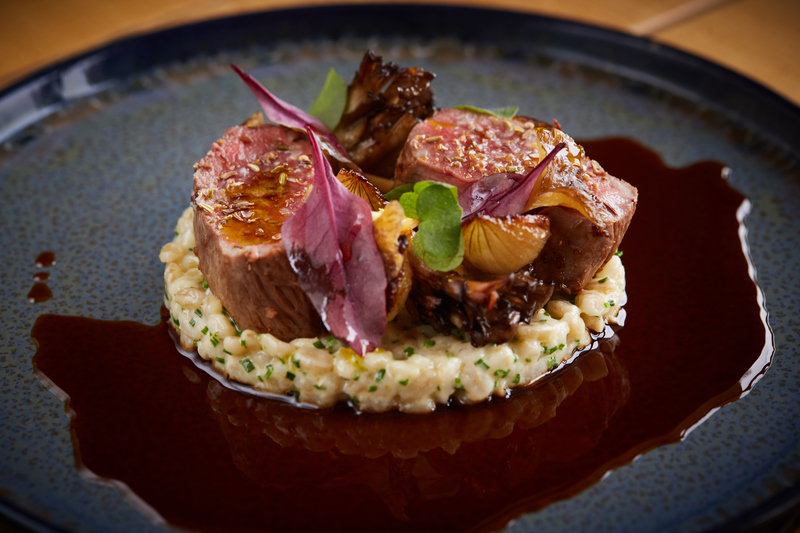 Spiced Scotch Lamb Loin recipe with pearl barley, grelot onions & girolle mushrooms by Jamie Scott - 6